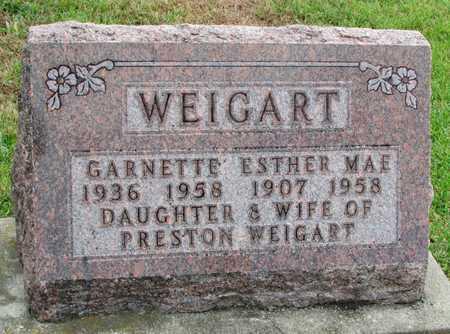 WEIGART, ESTHER MAE - Worth County, Missouri | ESTHER MAE WEIGART - Missouri Gravestone Photos