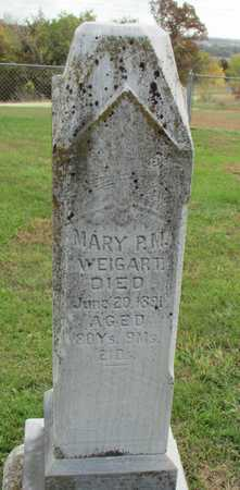 WEIGART, MARY PARKER - Worth County, Missouri | MARY PARKER WEIGART - Missouri Gravestone Photos