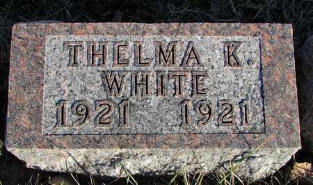 WHITE, THELMA K. - Worth County, Missouri   THELMA K. WHITE - Missouri Gravestone Photos