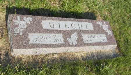 UTECHT, JOHN V - Adams County, Nebraska   JOHN V UTECHT - Nebraska Gravestone Photos
