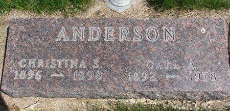 ANDERSON, CHRISTINA S. - Antelope County, Nebraska   CHRISTINA S. ANDERSON - Nebraska Gravestone Photos