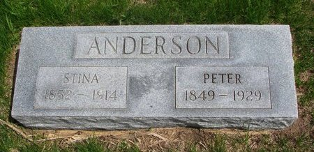 ANDERSON, STINA - Antelope County, Nebraska   STINA ANDERSON - Nebraska Gravestone Photos