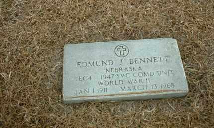 BENNETT, EDMUND J - Antelope County, Nebraska   EDMUND J BENNETT - Nebraska Gravestone Photos