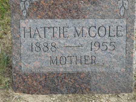 COLE, HATTIE M - Antelope County, Nebraska   HATTIE M COLE - Nebraska Gravestone Photos