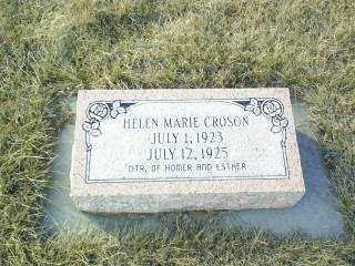 CROSON, HELEN MARIE - Antelope County, Nebraska   HELEN MARIE CROSON - Nebraska Gravestone Photos