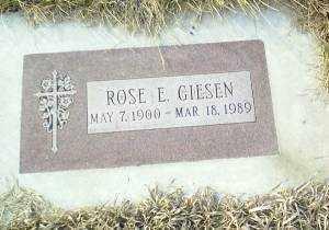 GIESEN, ROSE - Antelope County, Nebraska | ROSE GIESEN - Nebraska Gravestone Photos
