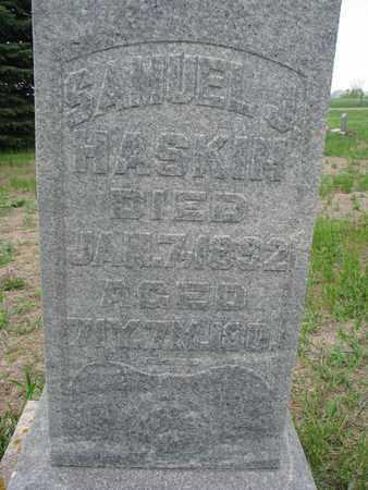 HASKIN, SAMUEL J. (CLOSEUP) - Antelope County, Nebraska | SAMUEL J. (CLOSEUP) HASKIN - Nebraska Gravestone Photos