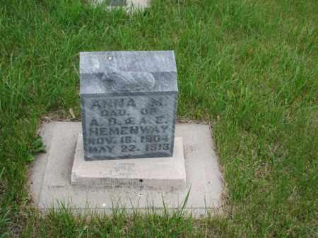 HEMENWAY, ANNA MARY - Antelope County, Nebraska   ANNA MARY HEMENWAY - Nebraska Gravestone Photos