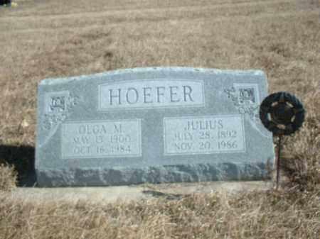 HOEFER, JULIUS W - Antelope County, Nebraska   JULIUS W HOEFER - Nebraska Gravestone Photos