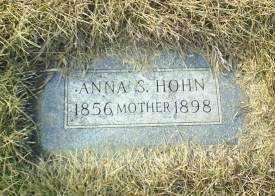 HOHN, ANNA S - Antelope County, Nebraska   ANNA S HOHN - Nebraska Gravestone Photos