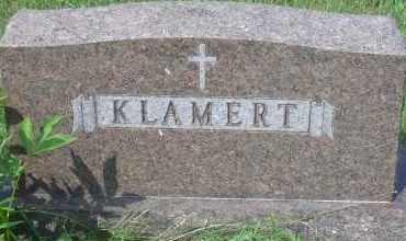 KLAMERT, FAMILY MARKER - Antelope County, Nebraska   FAMILY MARKER KLAMERT - Nebraska Gravestone Photos