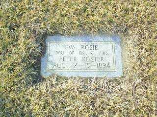 KOSTER, EVA ROSIE - Antelope County, Nebraska | EVA ROSIE KOSTER - Nebraska Gravestone Photos