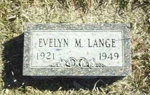 LANGE, EVELYN - Antelope County, Nebraska | EVELYN LANGE - Nebraska Gravestone Photos