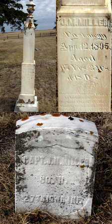 MILLER, CAPTAIN J. M. - Antelope County, Nebraska | CAPTAIN J. M. MILLER - Nebraska Gravestone Photos