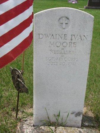 MOORE, DWAINE IVAN - Antelope County, Nebraska   DWAINE IVAN MOORE - Nebraska Gravestone Photos