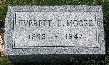 MOORE, EVERETT L. - Antelope County, Nebraska   EVERETT L. MOORE - Nebraska Gravestone Photos