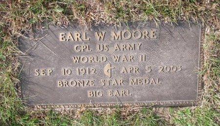 MOORE, EARL W. (MILITARY) - Antelope County, Nebraska | EARL W. (MILITARY) MOORE - Nebraska Gravestone Photos