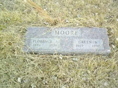 MOORE, FLORENCE A - Antelope County, Nebraska | FLORENCE A MOORE - Nebraska Gravestone Photos