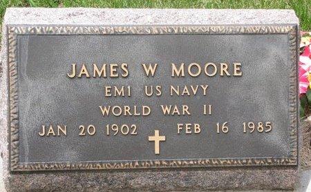 MOORE, JAMES W. - Antelope County, Nebraska | JAMES W. MOORE - Nebraska Gravestone Photos