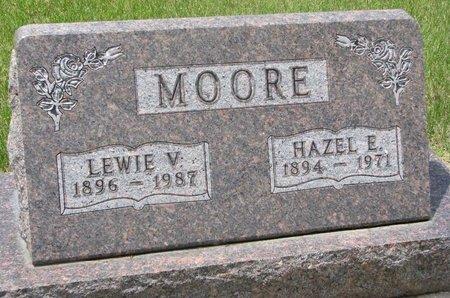 MOORE, LEWIE V. - Antelope County, Nebraska   LEWIE V. MOORE - Nebraska Gravestone Photos
