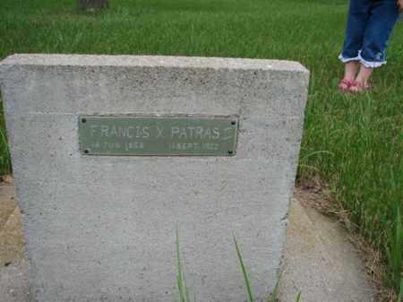 PATRAS II, FRANCIS X - Antelope County, Nebraska   FRANCIS X PATRAS II - Nebraska Gravestone Photos