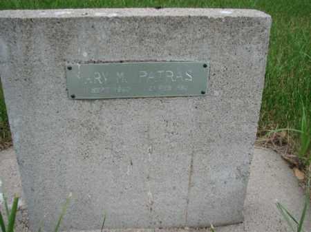 PATRAS, MARY M - Antelope County, Nebraska | MARY M PATRAS - Nebraska Gravestone Photos