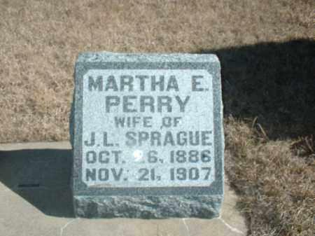 PERRY SPRAGUE, MARTHA E - Antelope County, Nebraska | MARTHA E PERRY SPRAGUE - Nebraska Gravestone Photos