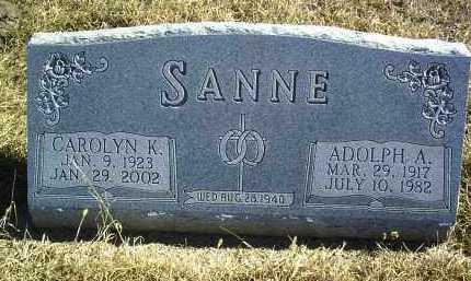 SCHLECHT SANNE, CAROLYN K - Antelope County, Nebraska | CAROLYN K SCHLECHT SANNE - Nebraska Gravestone Photos
