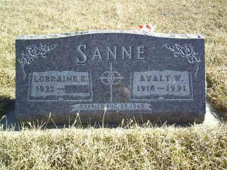 SANNE, LORRAINE - Antelope County, Nebraska | LORRAINE SANNE - Nebraska Gravestone Photos