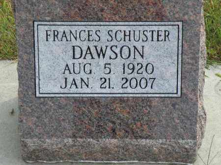 DAWSON SCHUSTER, FRANCES - Antelope County, Nebraska | FRANCES DAWSON SCHUSTER - Nebraska Gravestone Photos