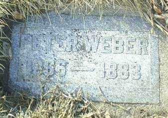 WEBER, PETER - Antelope County, Nebraska   PETER WEBER - Nebraska Gravestone Photos