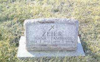 ZEIER, AMBROSE - Antelope County, Nebraska | AMBROSE ZEIER - Nebraska Gravestone Photos