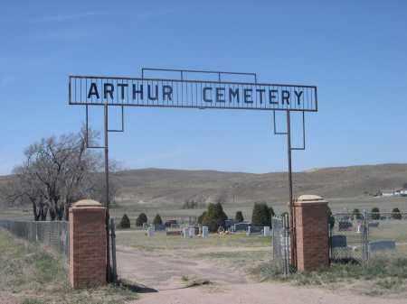 ARTHUR CEMETERY, ENTRANCE TO - Arthur County, Nebraska | ENTRANCE TO ARTHUR CEMETERY - Nebraska Gravestone Photos