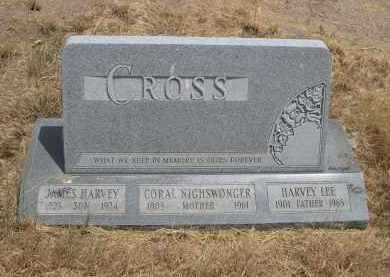 CROSS, HARVEY LEE - Banner County, Nebraska | HARVEY LEE CROSS - Nebraska Gravestone Photos