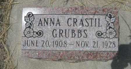 CRASTIL GRUBBS, ANNA - Banner County, Nebraska | ANNA CRASTIL GRUBBS - Nebraska Gravestone Photos