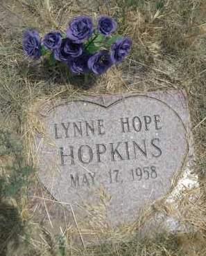HOPKINS, LYNNE HOPE - Banner County, Nebraska | LYNNE HOPE HOPKINS - Nebraska Gravestone Photos