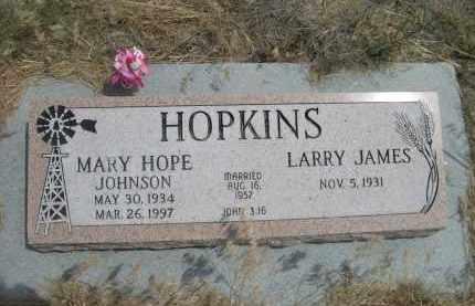 JOHNSON HOPKINS, MARY HOPE - Banner County, Nebraska | MARY HOPE JOHNSON HOPKINS - Nebraska Gravestone Photos