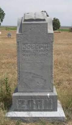 ZORN, JOSEPH - Banner County, Nebraska   JOSEPH ZORN - Nebraska Gravestone Photos