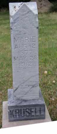 HANSEN KRUSELL, MARIE - Blaine County, Nebraska | MARIE HANSEN KRUSELL - Nebraska Gravestone Photos