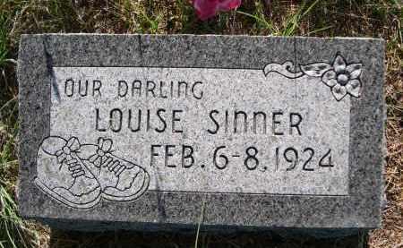 SINNER, LOUISE - Blaine County, Nebraska | LOUISE SINNER - Nebraska Gravestone Photos