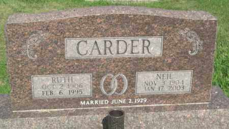 CARDER, NEIL - Boone County, Nebraska   NEIL CARDER - Nebraska Gravestone Photos