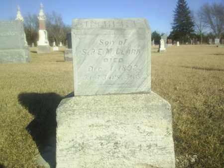 CLARK, INFANT - Boone County, Nebraska | INFANT CLARK - Nebraska Gravestone Photos