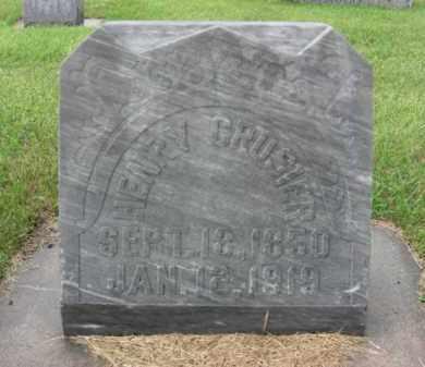 CROSIER, HENRY - Boone County, Nebraska | HENRY CROSIER - Nebraska Gravestone Photos