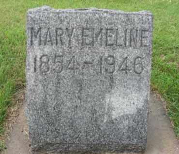 CROSIER, MARY EMELINE - Boone County, Nebraska | MARY EMELINE CROSIER - Nebraska Gravestone Photos