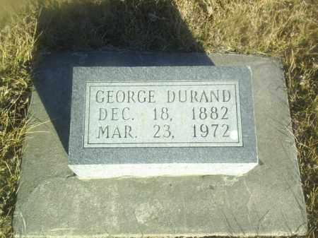 DURAND, GEORGE - Boone County, Nebraska | GEORGE DURAND - Nebraska Gravestone Photos