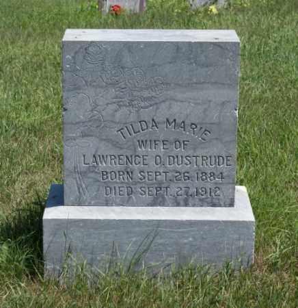 DUSTRUDE, TILDA MARIE - Boone County, Nebraska   TILDA MARIE DUSTRUDE - Nebraska Gravestone Photos