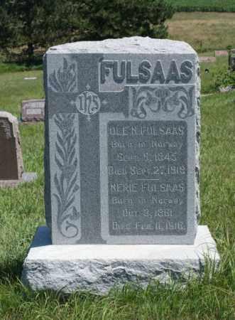 FULSAAS, OLE N. - Boone County, Nebraska | OLE N. FULSAAS - Nebraska Gravestone Photos