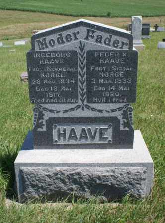 HAAVE, PEDER K. - Boone County, Nebraska | PEDER K. HAAVE - Nebraska Gravestone Photos