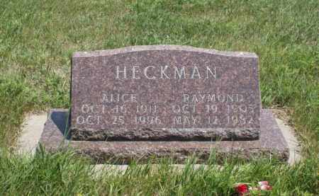 HECKMAN, ALICE - Boone County, Nebraska | ALICE HECKMAN - Nebraska Gravestone Photos