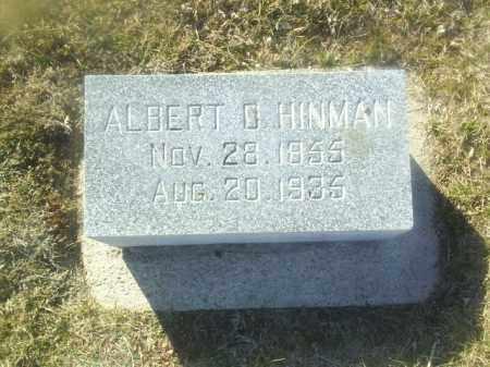 HINMAN, ALBERT - Boone County, Nebraska   ALBERT HINMAN - Nebraska Gravestone Photos